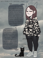 meet the artist, and her cat by forestrnom