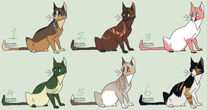 Cat adoptables (CLOSED) by JocastaTheWeird