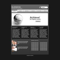 Grey business web template by Player-Designer