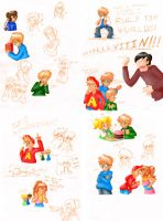 Alvin and Chipmunks doodles by chikisingergrl