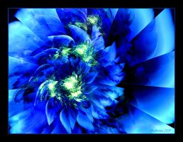 Mythical Blue Peony by Szellorozsa