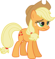 disgusted applejack by d2xa