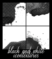 black and whit icontextures by BTTRFLYKISS