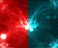 Blue Red Impact by P3doBear