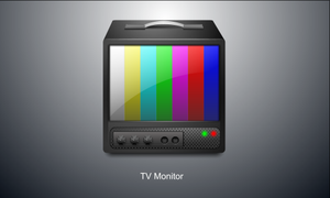 TV monitor Icon by tuziibanez