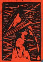 Pyramid Head relief print by febbik