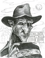 Robert Englund as Freddy Krueger by Caricature80