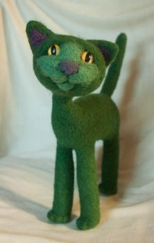 Green Cat by Yubodoc