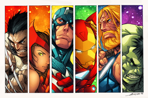 Ultimate Avengers by drucpec