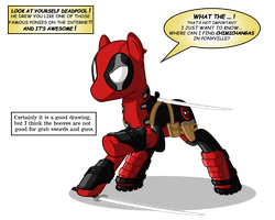 Deadpool The pony with a mouth by ZantyARZ
