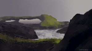 Iceland (reference from Noah Bradley) by kdoggdracul