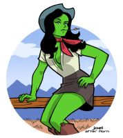 She-Hulk (after Horn) by JoelRCarroll