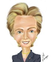 Hilary Clinton caricature by Hleix