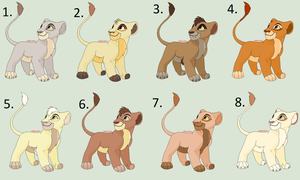 3 Point Cub Adoptables (Closed) by Sukida-Adopts