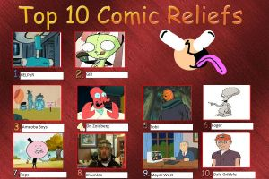 Top 10 comic relief Charachters by PurplePhoneixStar