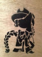 Applejack Gala Dress Stencil by SCARFI5H