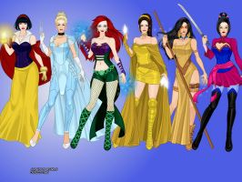 Disney X-Men Princesses by LadyRaw90