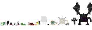 Tiny pixelart Minecraft mobs!!:333 by BabyWitherBoo