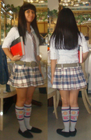 Me in school outfit without vest and with book by Magic-Kristina-KW