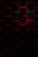 hexagon black red by slow240