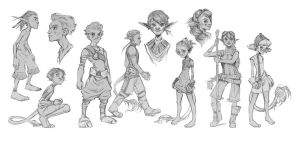Characters Sketch by atomhawk
