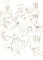 Sketch page OC's by SweetSnake3