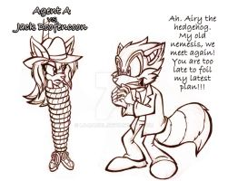 Agent A VS Jack Doofencoon by lu-raziel
