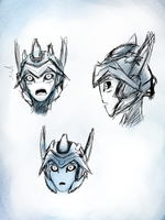 TFP Eclipserunner headsketches by WindyRen