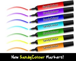 SandyColour Markers by Sandybelle