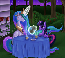 Midnight Tea by paper-pony