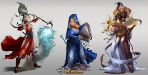 Pathfinder Roleplaying Game: Unchained /// Women by Rez-art