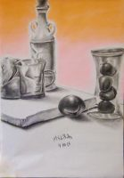 Pastel/Charcoal  Drawing 5 by jesus-at-art