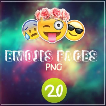 Emoji faces PNG by ImMermaid