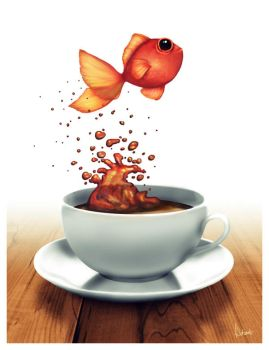 Coffee Cup Fish by traumtaenzer