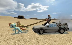 Pulling the Delorean by FezWearingDoctor