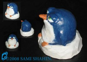 Penguin - Polymer Sculpt by SamiShahin-Art