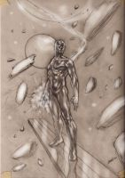 silver surfer sketch by LucaStrati
