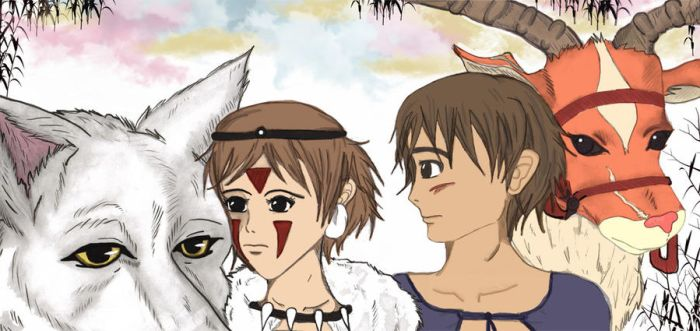Princess Mononoke by peonyroyale