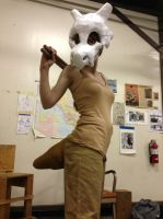 Week made cubone Cosplay for playing drums by Commander-Sheep