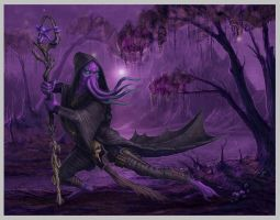 Mind Flayer with background by MichaelJaecks