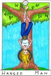 Barefoot Tarot - Hanged Man by SparrowsHellcat