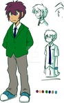 Daichi Chararcter Reference Sheet - School uniform by adventure-heart