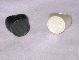 Black Lantern and White Lantern Rings by MetroXLR99
