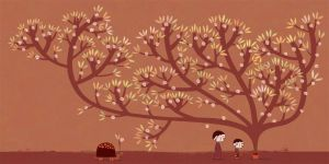 The brown tree by nicolas-gouny-art