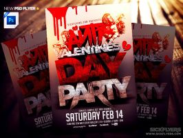 Anti Valentines Day Flyer Template PSD by Industrykidz