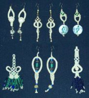 Pendants and Earrings by Peter-The-Knotter
