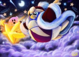Kirby and Dedede flight by Evanatt