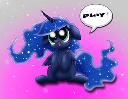 Chibi Princess Luna by Raven-Sunshine