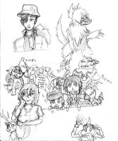 Digimon LinK Sketch dump 2 Electric Boogaloo by Lunar-Oatmeal