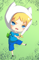 Commission: Finn the human by MoonlightTheWolf